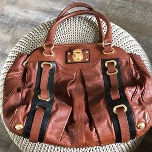 Marc Jacobs purse brown leather vintage as is